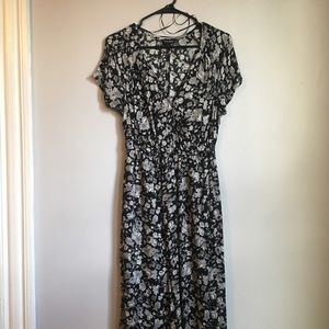NWOT Lucky Brand Floral Wrap Front Maxi Dress